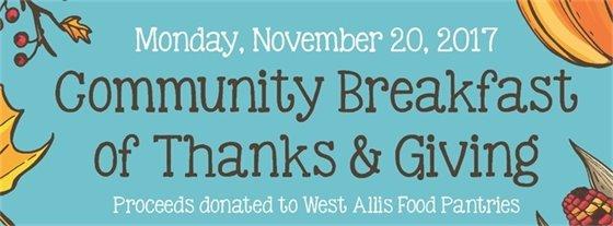 community breakfast image