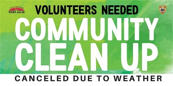 Community Clean Up Canceled