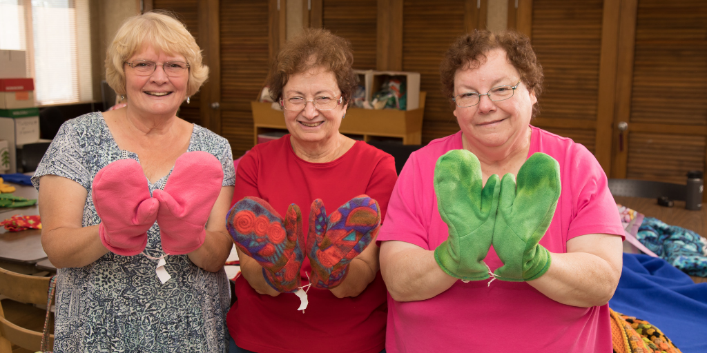Photo of Senior Center Gifts of Warmth Program