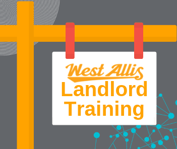 Landlord Training Graphic Showing Sign with &#34Landlord Training&#34 text and City logo