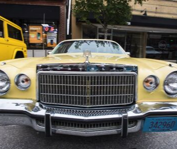 Photo of yellow classic car at 2018 Classic Car Show