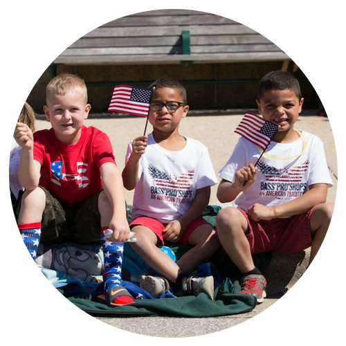 Photo of Children on Memorial Day 2017