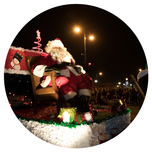 Photo of Santa in West Allis Christmas Parade 2017