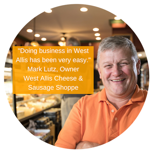 Photo of Mark Lutz, West Allis Cheese and Sausage Shoppe Owner