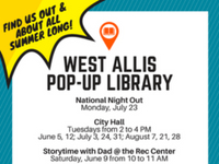 West Allis Library Pop UP Library Graphic