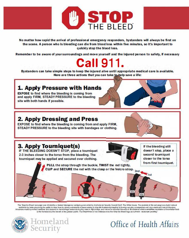 Stop the Bleed Instructions